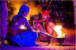 Torch Bearers at Esala Perehera Festival, Kandy, Sri Lanka