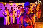 Portrait of Torch Bearer at Esala Perehera Festival, Kandy, Sri Lanka