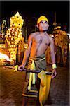 Torch Bearer, Esala Perehera Festival, Kandy, Sri Lanka