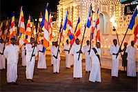 Flag Bearers in front of Temple of the Tooth, Esala Perahera Festival, Kandy, Sri Lanka Stock Photo - Premium Rights-Managednull, Code: 700-05642306
