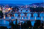 Bridges Over Vltava River, Prague, Czech Republic Stock Photo - Premium Rights-Managed, Artist: R. Ian Lloyd, Code: 700-05642357