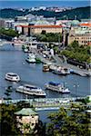 Boats on Vltava River, Prague, Czech Republic Stock Photo - Premium Rights-Managed, Artist: R. Ian Lloyd, Code: 700-05642361