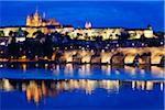 Prague Castle at Night, Prague, Czech Republic Stock Photo - Premium Rights-Managed, Artist: R. Ian Lloyd, Code: 700-05642367