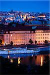 Vltava River and Overview of Prague at Night, Czech Republic Stock Photo - Premium Rights-Managed, Artist: R. Ian Lloyd, Code: 700-05642375