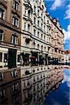 Buildings Reflected in Pool, Josefov, Prague, Czech Republic Stock Photo - Premium Rights-Managed, Artist: R. Ian Lloyd, Code: 700-05642381