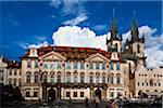 Church of Our Lady before Tyn and Kinsky Palace, Old Town Square, Old Town, Prague, Czech Republic