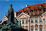 Jan Hus Memorial and Kinsky Palace, Old Town Square, Prague, Czech Republic Stock Photo - Premium Rights-Managed, Artist: R. Ian Lloyd, Code: 700-05642396