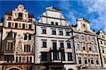 Storch House and Buildings on South Side of Old Town Square, Prague, Czech Republic Stock Photo - Premium Rights-Managed, Artist: R. Ian Lloyd, Code: 700-05642398