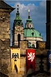 Bridge Tower and St. Nicholas Church, Mala Strana, Prague, Czech Republic Stock Photo - Premium Rights-Managed, Artist: R. Ian Lloyd, Code: 700-05642407