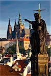 Statue on Charles Bridge, Prague, Czech Republic Stock Photo - Premium Rights-Managed, Artist: R. Ian Lloyd, Code: 700-05642413