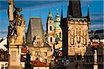 Looking Toward Mala Strana from Charles Bridge, Prague, Czech Republic