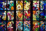 Stained Glass Window, St. Vitus Cathedral, Prague Castle, Prague, Czech Republic Stock Photo - Premium Rights-Managed, Artist: R. Ian Lloyd, Code: 700-05642435