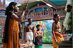 Bell Ringer at Adi Puram Ceremony at Hindu Temple, Colombo, Sri Lanka
