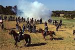 1980s AMERICAN CVIL WAR REENACTMENT 1863 BATTLE OF GETTYSBURG PENNSYLVANIA USA SOLDIERS CAVALRY AND ARTILLERY