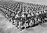 1940s ROWS OF USA INFANTRYMEN MARCHING