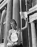 1960s PAPERBOY HAWKING SELLING NEWSPAPER