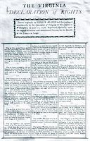 right - 1770s JUNE 17 1776 THE VIRGINIA DECLARATION OF RIGHTS PRINTED 18TH CENTURY DOCUMENT Stock Photo - Premium Rights-Managednull, Code: 846-05646461