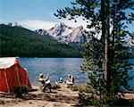 1970s COUPLE CAMPING STANLEY LAKE, ID