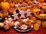 HALLOWEEN DESSERT PARTY BUFFET Stock Photo - Premium Rights-Managed, Artist: ClassicStock, Code: 846-05646899