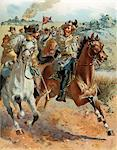 1800s - 1860s JUNE 1862 CONFEDERATE TROOPS CAVALRY GENERAL J. E. B. JEB STUART RAID AROUND McCLELLAN CIVIL WAR AMERICAN