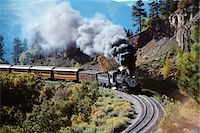 steam engine - NARROW GAUGE STEAM RAILROAD TRAIN DURANGO SILVERTON, CO Stock Photo - Premium Rights-Managednull, Code: 846-05647330