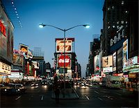 1960s - 1966 NIGHT AT TIMES SQUARE MANHATTAN BROADWAY AT 45th STREET LOOKING NORTH Stock Photo - Premium Rights-Managednull, Code: 846-05647333