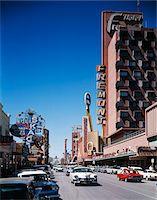1960s DAYLIGHT LOOK DOWN FREMONT STREET LAS VEGAS NV Stock Photo - Premium Rights-Managednull, Code: 846-05647374