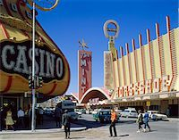 1950s FREMONT STREET, LAS VEGAS, NV CASINO GAMBLING Stock Photo - Premium Rights-Managednull, Code: 846-05647375