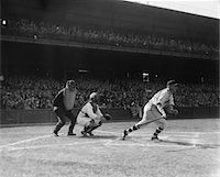 professional baseball game - 1930s BASEBALL GAME BATTER ABOUT TO RUN AFTER MAKING A HIT Stock Photo - Premium Rights-Managednull, Code: 846-05647956