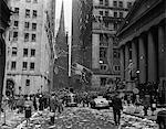 1940s NEW YORK CITY WALL STREET TICKER TAPE PARADE CELEBRATION OF E-E DAY VICTORY IN EUROPE MAY 8 1945