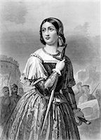 1400s - 1430s JOAN OF ARC MAID OF ORLEANS MILITARY LEADER HEROINE HOLDING SWORD Stock Photo - Premium Rights-Managednull, Code: 846-05648013