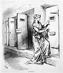 1800s - 1873 THOMAS NAST CARTOON OF JUSTICE LOCKING JAIL CELL OF W.M. TWEED NEW YORK POLITICIAN Stock Photo - Premium Rights-Managed, Artist: ClassicStock, Code: 846-05648027