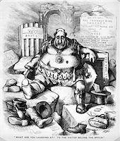 1800s - 1871 THOMAS NAST CARTOON OF BOSS TWEED TAMMANY HALL POLITICIAN NEW YORK CITY Stock Photo - Premium Rights-Managednull, Code: 846-05648028