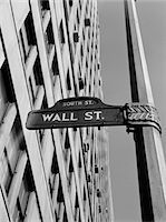 1950s - 1960s WALL STREET SIGN Stock Photo - Premium Rights-Managednull, Code: 846-05648103