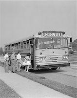 1960s ELEMENTARY SCHOOL CHILDREN GETTING ON SCHOOL BUS Stock Photo - Premium Rights-Managednull, Code: 846-05648153