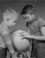 1960s TWO BOYS STUDYING EARTH GLOBE Stock Photo - Premium Rights-Managednull, Code: 846-05648233