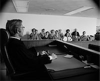 1970s JUDGE ADDRESSING JURY IN COURTROOM Stock Photo - Premium Rights-Managednull, Code: 846-05648291