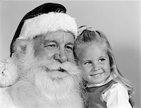 1960s PORTRAIT OF SANTA CLAUS AND LITTLE BLOND GIRL SMILING Stock Photo - Premium Rights-Managednull, Code: 846-05648548
