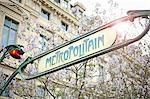 Metro sign in Paris Stock Photo - Premium Royalty-Free, Artist: Robert Harding Images, Code: 649-05648725