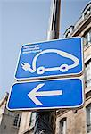 Electric car charging station sign Stock Photo - Premium Royalty-Free, Artist: Matt Brasier, Code: 649-05648734