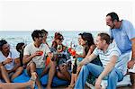 Friends drinking together outdoors Stock Photo - Premium Royalty-Free, Artist: Robert Harding Images, Code: 649-05649299