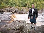 Time lapse view of man in kilt by river Stock Photo - Premium Royalty-Free, Artist: Jose Luis Stephens, Code: 649-05649431