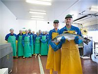Workers in fish processing plant Stock Photo - Premium Royalty-Freenull, Code: 649-05649456