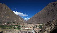 Inca ruins at the village of Ollantaytambo, Cuzco Region, Peru, South America Stock Photo - Premium Royalty-Freenull, Code: 682-05650261