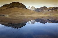 snow capped - Reflection of Huayna Potosi in Lago Juri Khota, Cordillera Real, Bolivia, South America Stock Photo - Premium Royalty-Freenull, Code: 682-05650509