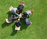 Business people working together outdoors Stock Photo - Premium Royalty-Free, Code: 635-05651405