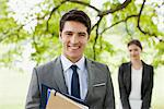 Business people standing together outdoors Stock Photo - Premium Royalty-Free, Artist: Uwe Umsttter, Code: 635-05651440