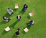 Business people having meeting outdoors Stock Photo - Premium Royalty-Free, Artist: Blend Images, Code: 635-05651449