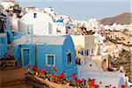 Houses, Oia, Santorini Island, Greece