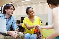Businesswomen handshaking in meeting Stock Photo - Premium Royalty-Freenull, Code: 635-05656063